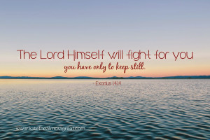 The Lord Himself will fight for you; you have only to keep still ...