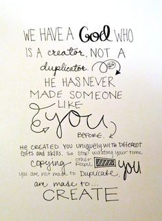 CREATE! What a great verse to put on the wall of a craft room, sewing ...