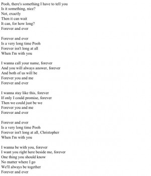 Forever and ever is an awfully long time Winnie the Pooh quotes poem