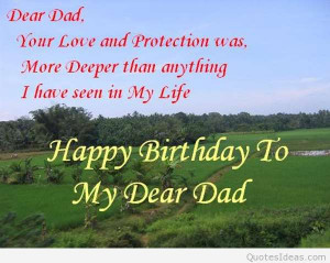 Happy Birthday Dad From Daughter Quotes Happy Birthday Quotes For
