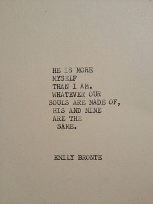 THE EMILY BRONTE Typewriter quote on 5x7 cardstock by WritersWire, $5 ...