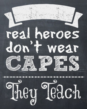 Real Heroes Teach {Gift Box and Printable