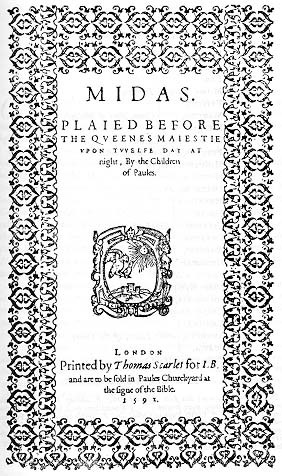 Title-page of Midas (1591)