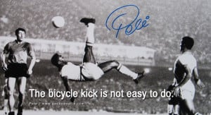 football fifa brazil world cup 2014 The bicycle kick is not easy to do ...