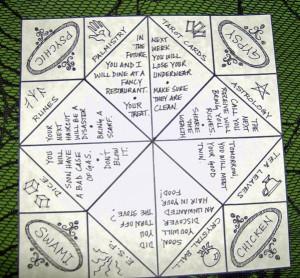 origami fortune teller template