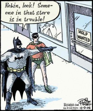Funny batman and robin cartoon
