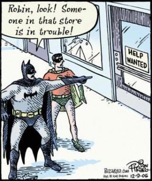 Funny batman and robin cartoon