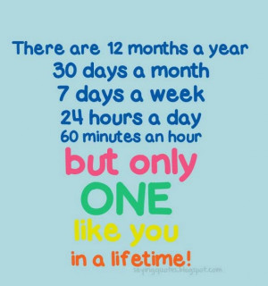 There are twelth months a year 30 days
