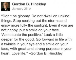 Quote from President Gordon B. Hinckley: