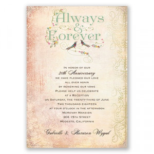 Always and Forever - Vow Renewal Invitation