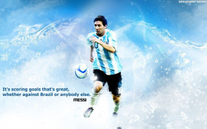 Lionel Messi - Goal Motivational Quotes wallpaper