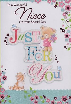 Birthday Cards, Female Relation Birthday Cards, Niece, To A Wonderful ...