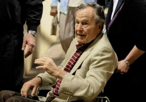 George Bush Sr put in intensive care unit