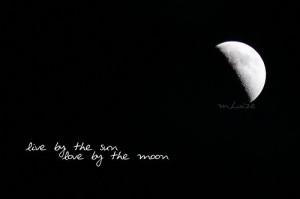 live, love, moon, romantic, shine, truth, words