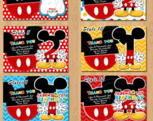 ... Mouse Thank you Cards, Mouse Clubhouse, Mickey Mouse Party, Birthday
