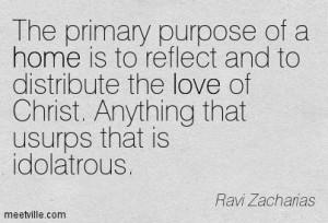 ... of Christ. Anything that usurps that is idolatrous. Ravi Zacharias