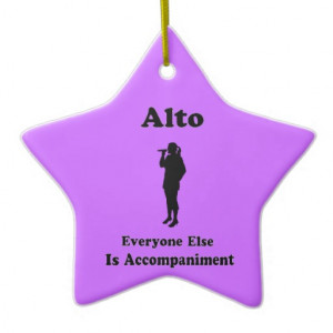 Alto Star Funny Choir Ornament Gift For Singer