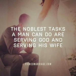 Serving God...