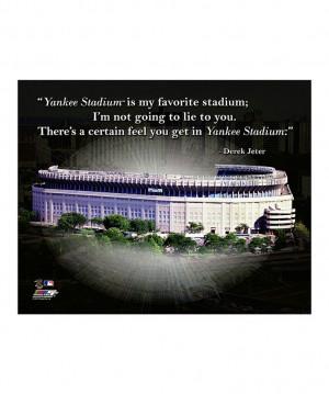 Derek Jeter Yankee Stadium Pro Quote Canvas | zulily