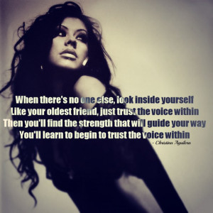 ... aguilera, girl, pretty, quote, quotes, song quotes, trust, woman