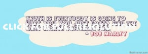 Bob marley quote facebook cover