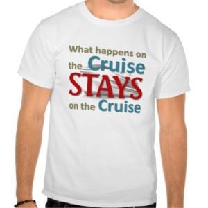 What happens on the cruise t-shirts