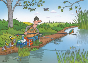 Greetings Card - Fishing Funny