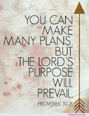 God's will prevail