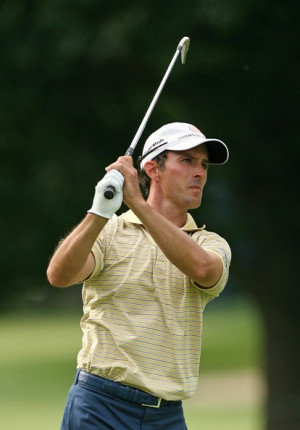 Mike Weir Mike Weir of Canada hits his second shot on the ninth hole