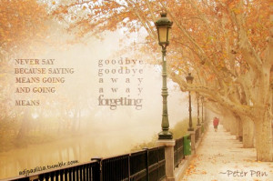 Peter pan quotes never say goodbye wallpapers
