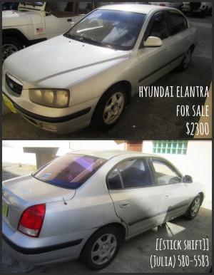 Thread: Hyundai Elantra for sale: $2300 (stick shift)