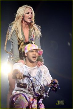 Britney with the best dancer and friend Willie Gomez