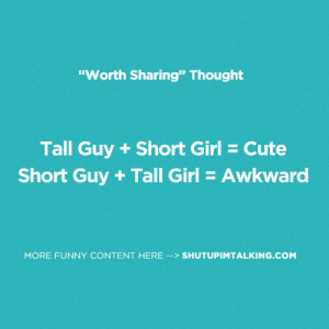 short girl tall boy quotes