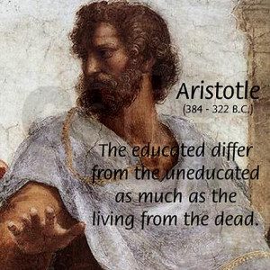 aristotle_education_quote_wall_clock.jpg?height=460&width=460 ...