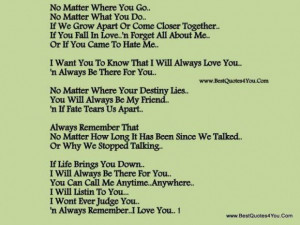 will always love you quotes poems