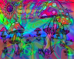 Flower Power/Psychedelic Mix Wallpapers