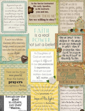 ... LDS Ideas: {Conference Preserves} April 2013 Conference Quote Cards