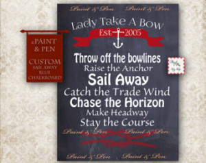 ... Decor -Sailing Poster -Sail Away With Me- Come Sail Away -Sail Quote