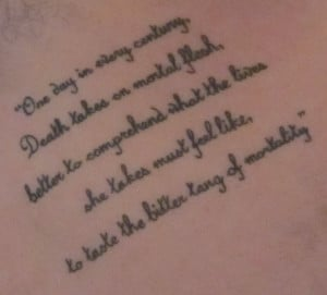 death quote tattoo by mzxiii tattoo quotes about family death quotes ...