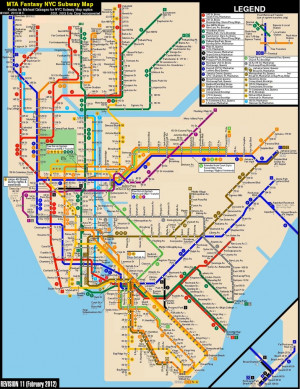 Subway Map Bronx Nyc New York