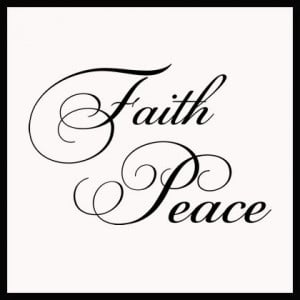 Faith And Peace Cursive Wall Decals - Trading Phrases