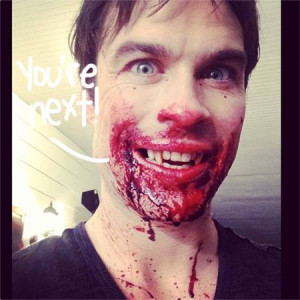 Ian Somerhalder Got So Excited He Forgot To Clean His Face! Fill In ...
