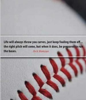 Softball/Baseball quote