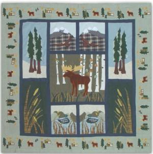 Cabin Curtains Moose