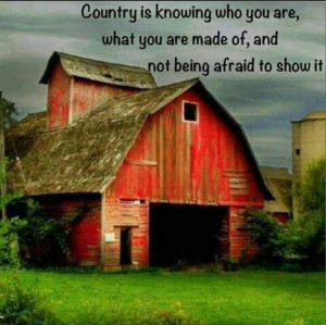 country girl quote with old farm barn more quotes and fun from a mommy ...