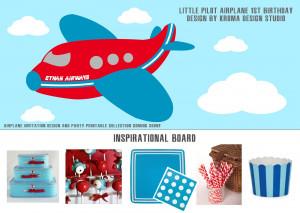 Airplane Inspired Birthday} Little Pilot Birthday Party Theme