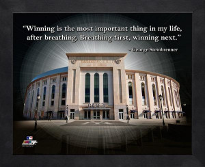 Yankee Stadium Framed ProQuote with George Steinbrenner quote