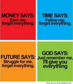 money #time #future #God