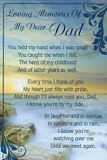 Grave Memorial Gift Graveside Remembrance card Father-Dad1