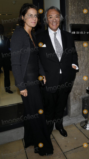 David Tang Picture LondonUK David Tang and his wife at the Michael